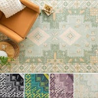 Hand-Knotted Lester Border Wool Area Rug