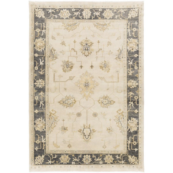 Hand-Knotted Chirstie Floral New Zealand Wool Area Rug - 9' x 13'