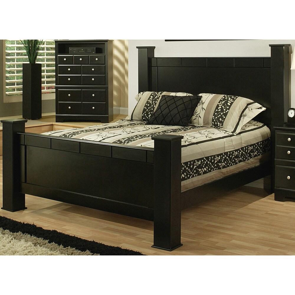 Shop Sandberg Furniture Elena Black Estate Bed Free