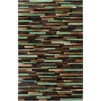 Hand-Crafted Kristine Animal Leather Area Rug - 8' x 10'