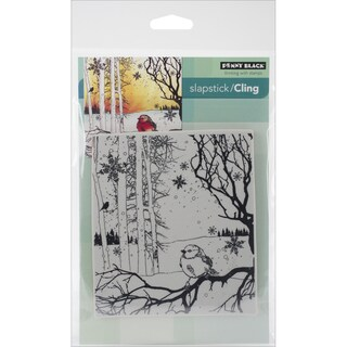 "Penny Black Cling Rubber Stamp 5""X7.5"" Sheet-Winter Song"