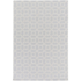 Hand-Hooked Lucile Geometric Wool Rug (9' x 13')