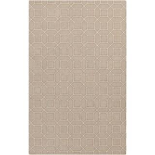 Hand-Hooked Lucile Geometric Wool Rug (8' x 10')