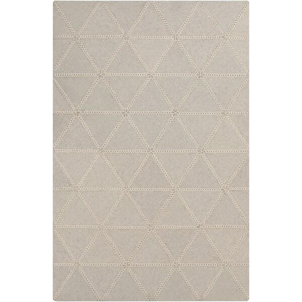 Hand-Crafted Marcia Geometric Wool Area Rug
