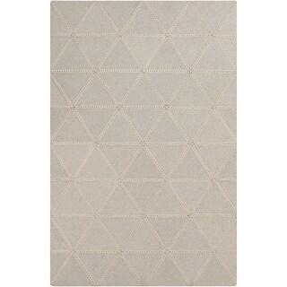 Hand-Crafted Marcia Geometric Wool Rug (5' x 7'6)