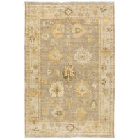 Hand-Knotted Loretta Floral New Zealand Wool Area Rug - 2' X 3'