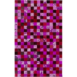 Hand-Crafted Matthias Animal Leather Area Rug