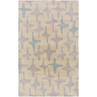 Hand-Tufted Dwayne Abstract Wool Rug (8' x 11')