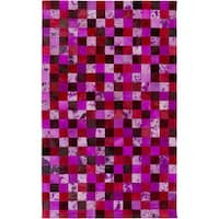 Hand-Crafted Matthias Animal Leather Area Rug - 5' x 8'