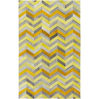 Hand-Crafted Maddison Animal Leather Rug (5' x 8')