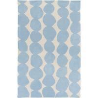 Hand-Woven Dorian Abstract Wool Area Rug - 2' x 3'
