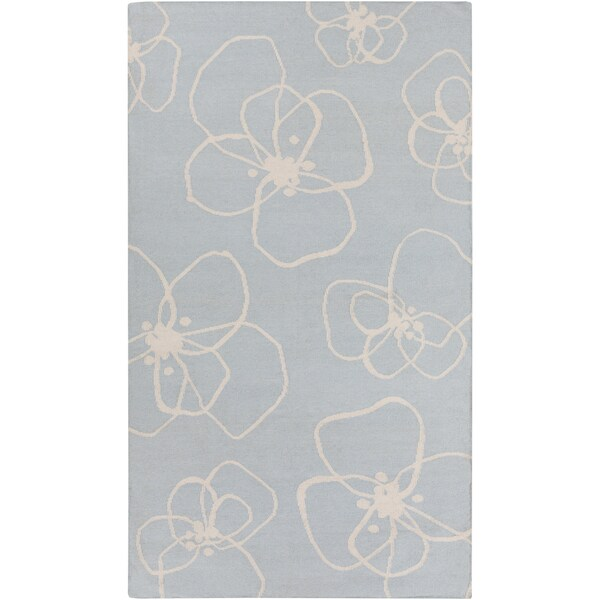 Hand-Woven Donnie Floral Wool Area Rug - 2' x 3'
