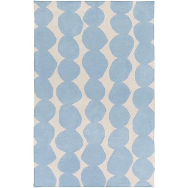 Hand-Woven Dorian Abstract Wool Area Rug