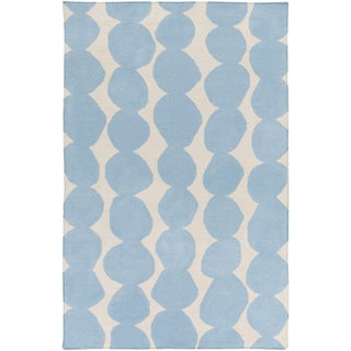 Hand-Woven Dorian Abstract Wool Rug (5' x 8')