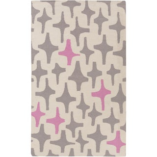 Hand-Woven Dianne Abstract Wool Rug (5' x 8')