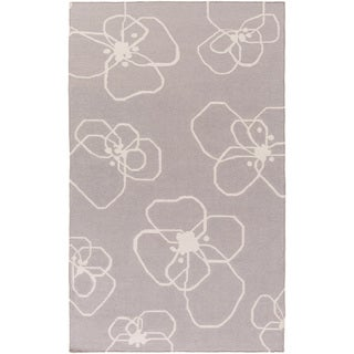 Hand-Woven Donnie Floral Wool Rug (8' x 11')