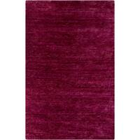 "Hand-Knotted Joselyn Solid Jute Magenta Area Rug - 3'3"" x 5'3"""
