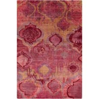 Hand-Knotted Anna Contemporary Wool Area Rug