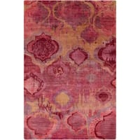 Hand-Knotted Anna Contemporary Wool Area Rug - 5' x 8'