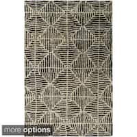 The Gray Barn Burton Hand-knotted Forrest Hemp Area Rug - 5' x 8'