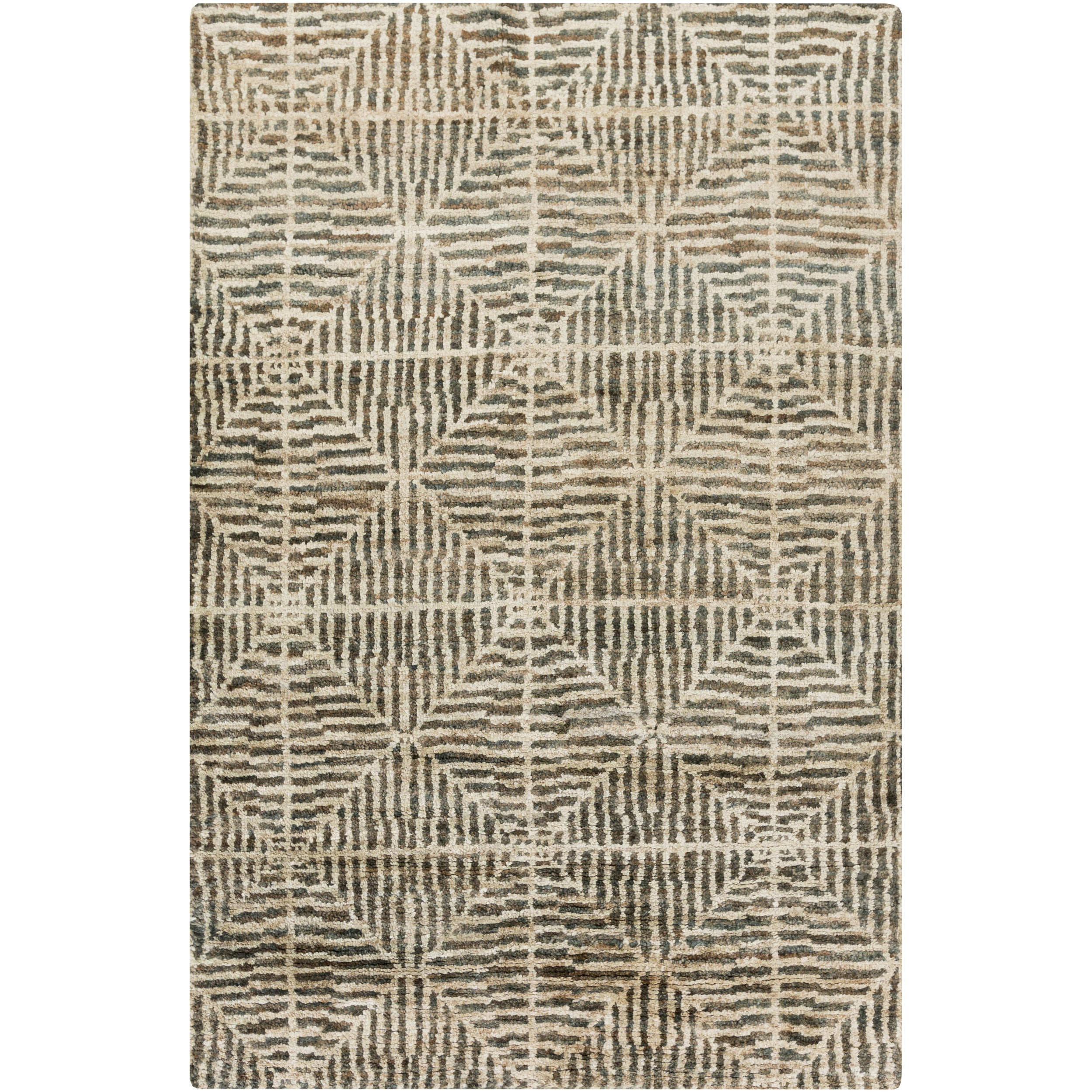 Hand-Knotted Forrest Hemp Rug (2' x 3') (Green-(2' x 3'))...