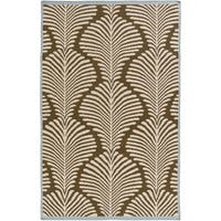 Hand-Woven Darian Floral Wool Area Rug - 8' x 11'