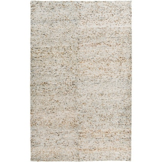 Hand-Knotted Roderick Abstract Cotton Rug (5' x 8')