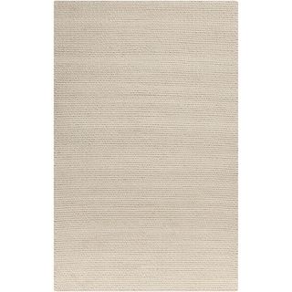 Hand-Woven Anabelle Solid Wool Area Rug