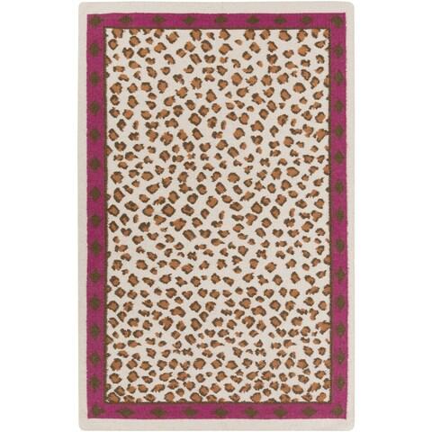 Hand-Woven Danika Animal Wool Area Rug