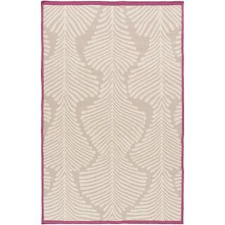 Hand-Woven Darian Floral Wool Rug (5' x 8')