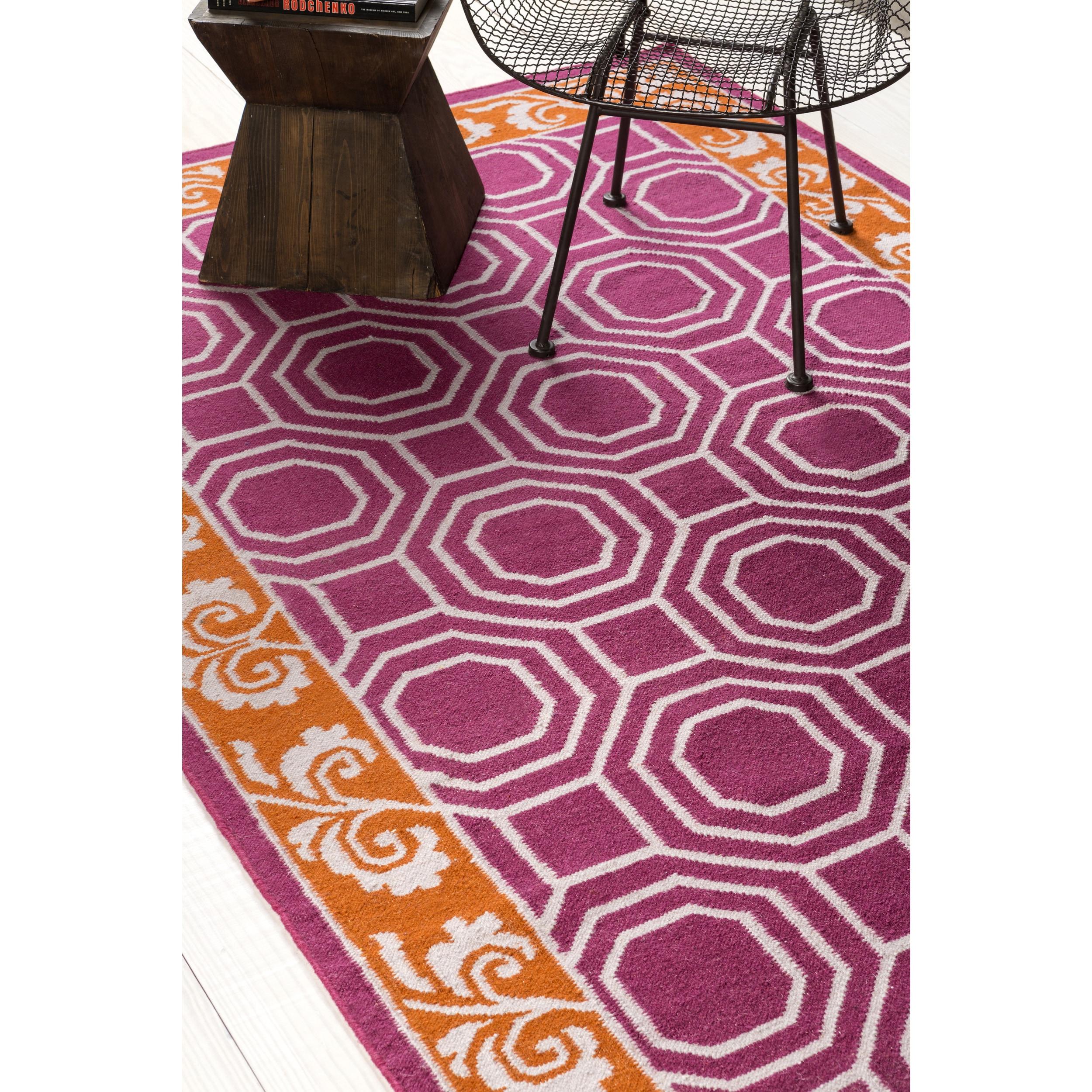 Hand Woven Darius Geometric Wool Area Rug Overstock 9804858
