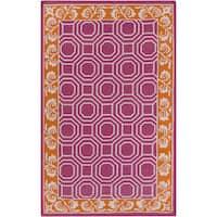 Hand-Woven Darius Geometric Wool Area Rug - 5' x 8'