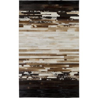 Hand-Crafted Rosalind Animal Leather Area Rug