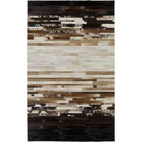 Hand-Crafted Rosalind Animal Leather Area Rug - 5' x 8'