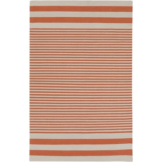 Hand-Woven Pauline Stripe Pattern Cotton Area Rug