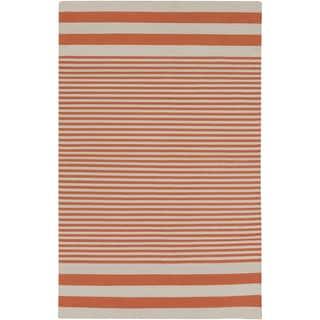 Hand-Woven Pauline Stripe Pattern Cotton Rug (3'3 x 5'3)