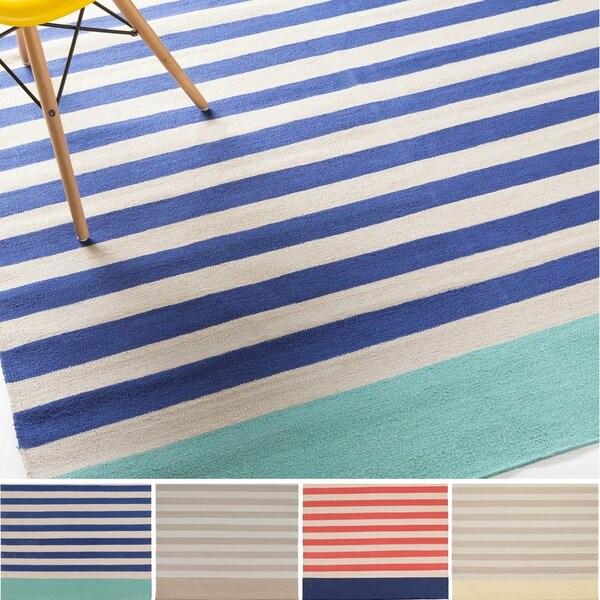 Hand-Woven Paulina Stripe Pattern Cotton Rug (3'3 x 5'3)