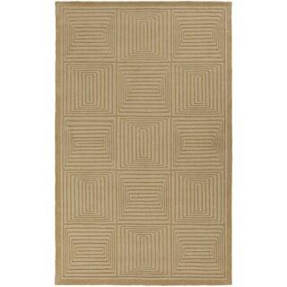 Handmade Hether Casual Style Wool Rug (5' x 8')