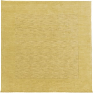 Handmade Harley Casual Style Wool Area Rug (Gold - 99 Square)