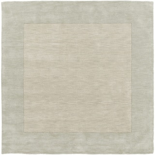 Handmade Harley Casual Style Wool Area Rug (Seafoam - 99 Square)