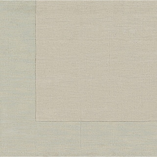 Handmade Harley Casual Style Wool Area Rug (Cream - 99 Square)