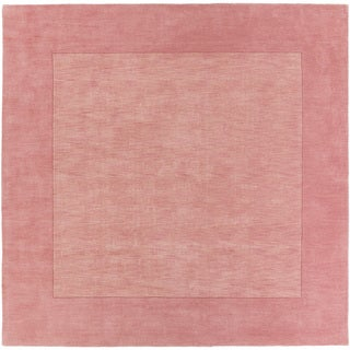Handmade Harley Casual Style Wool Area Rug (Coral - 99 Square)