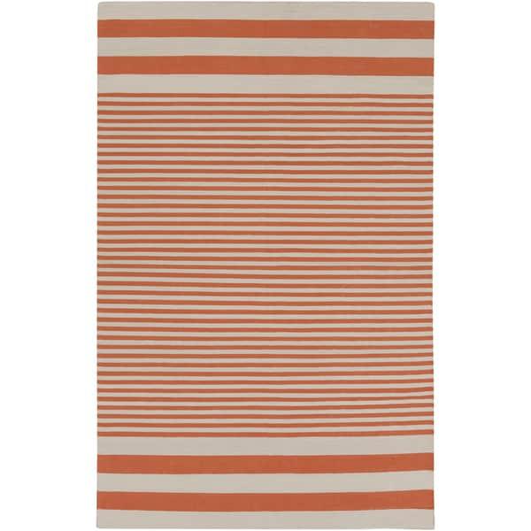 Hand-Woven Pauline Stripe Pattern Cotton Area Rug (2' x 3')