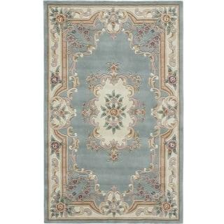 Caleb Hand-Tufted Wool Oriental Area Rug (8' x 11') - 8' x 11'