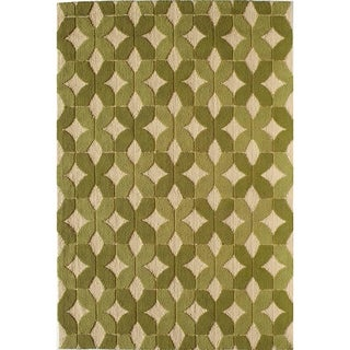 Glory 843 Green Geometric Area Rug (8' x 10')