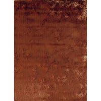 Silky Shag Orange Solid Area Rug - 7' x 9'