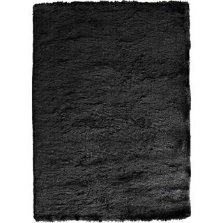 Hand Tufted Floridly Geometric Black Wool Rug 8 X 10