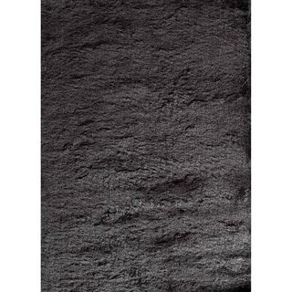 Silky Shag 71SL Black Solid Area Rug (7' x 9')
