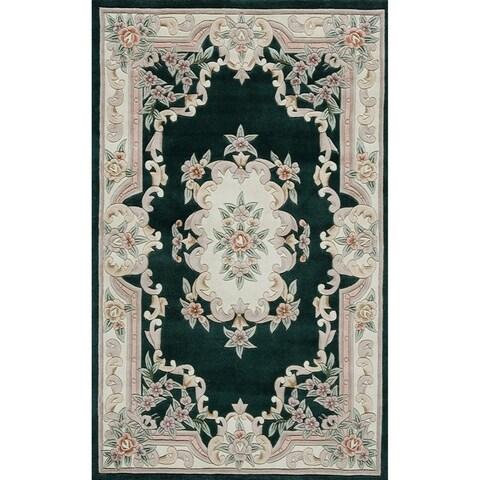 Inez Hand-Tufted Wool Oriental Area Rug (96 x 132)