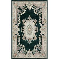 Inez Hand-Tufted Wool Oriental Area Rug (96 x 132)
